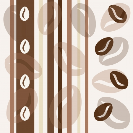 Coffee bean seamless background Illustration