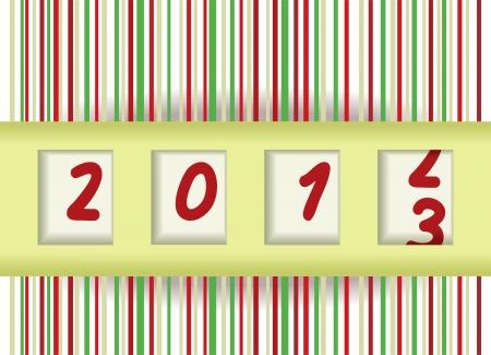 2012-2013 change, New year vector illustration Illustration