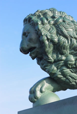 Sculpture of a lion, St. Petersburg, Russia