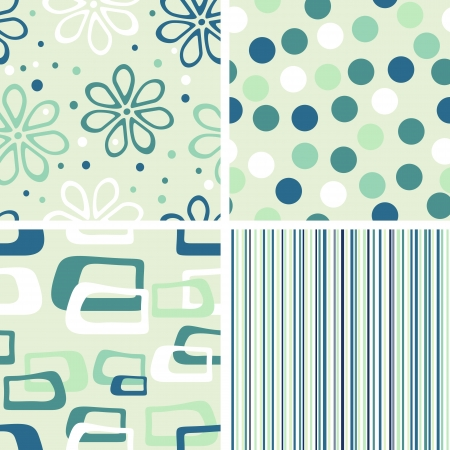 set of seamless pastel backgrounds Vector