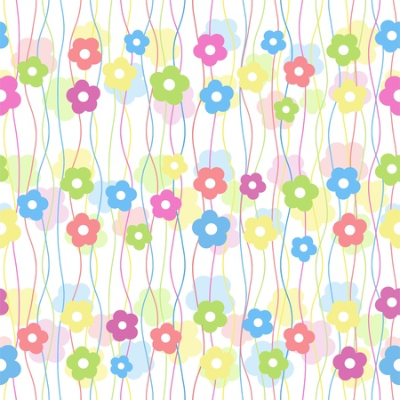 colorful baby floral seamless background
