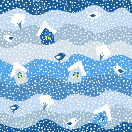 winter seamless pattern, vector illustration Illustration