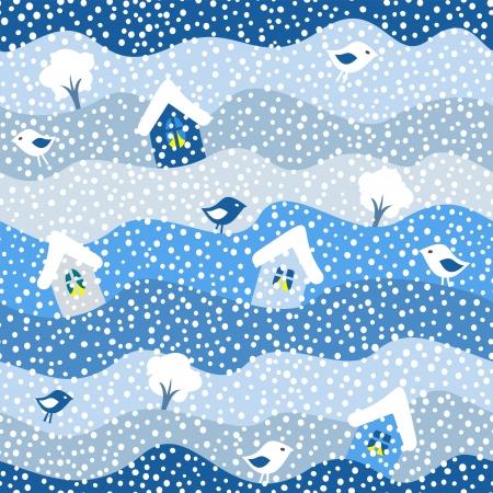 winter seamless pattern, vector illustration Illustration