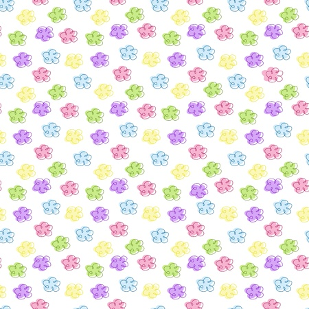 baby floral seamless background, vector illustration Illustration