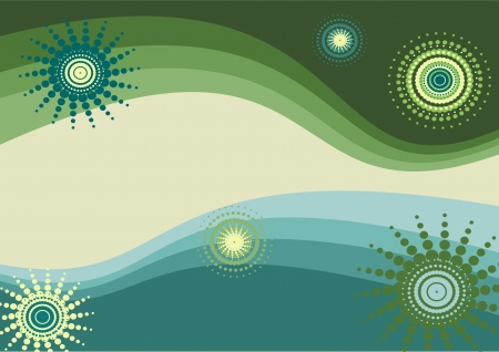 simple background, green and blue vector illustration Illustration