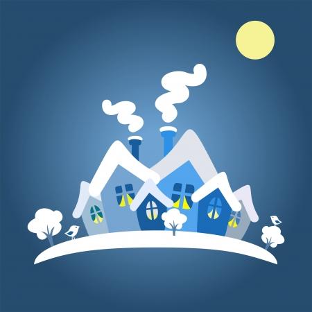 winter card, vector illustration Illustration