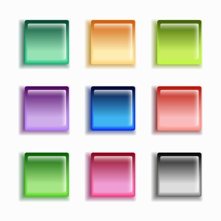 glass button set Stock Vector - 17310243