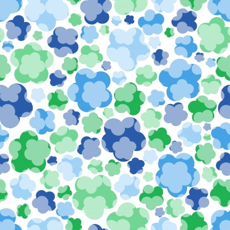 seamless floral blue tender pattern,  illustration Stock Vector - 17330040