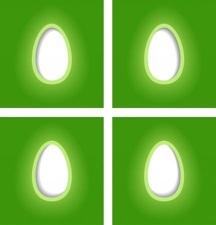 simple easter egg cards, vector illustration