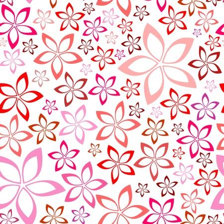 tender floral pink seamless pattern, illustration