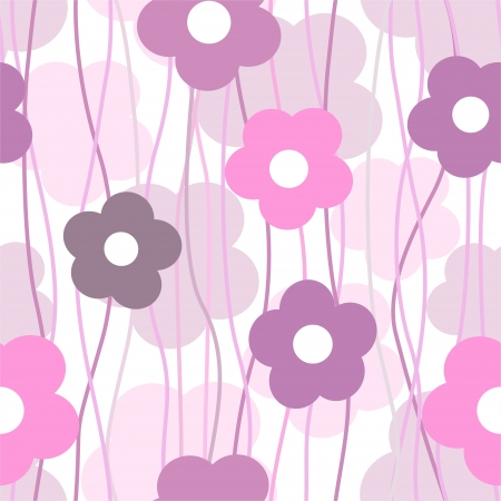 simple stylish floral background, vector illustration