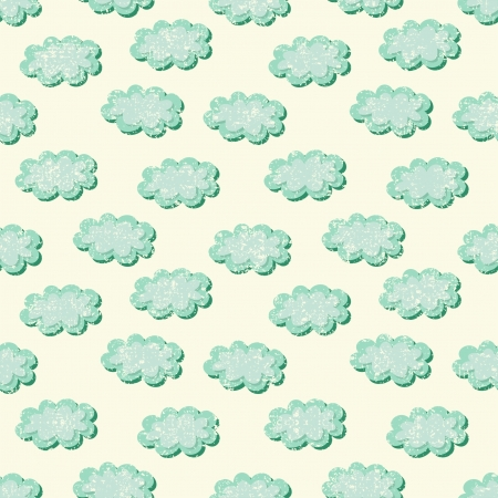 clouds shabby seamless pattern, vector illustration Illustration