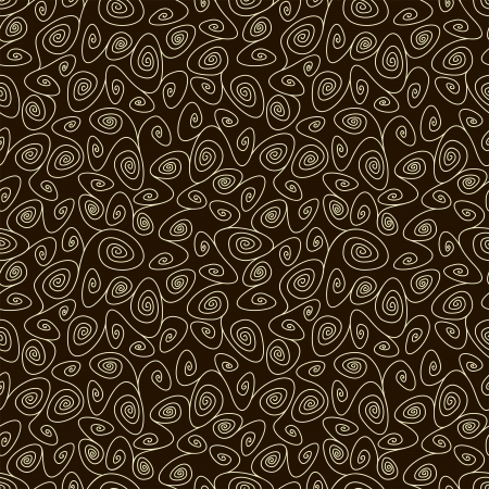 simple swirl chocolate seamless pattern, vector illustration
