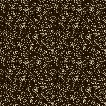 chocolate swirl: simple swirl chocolate seamless pattern, vector illustration