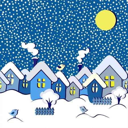 winter fairytale seamless card, vector illustration Vector