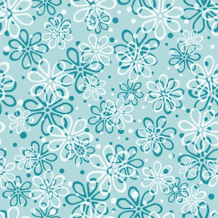 blue floral seamless pattern, vector illustration Illustration