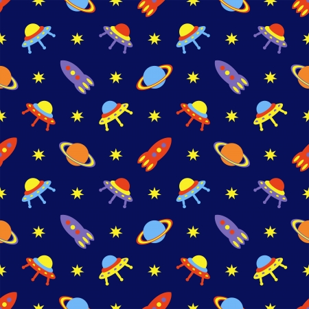 child cosmos seamless pattern, vector illustration Vector