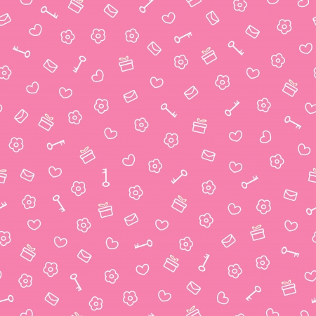 cute seamless valentine pattern, vector illustration Vector