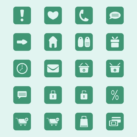 shopping icons set, vector illustration Vector