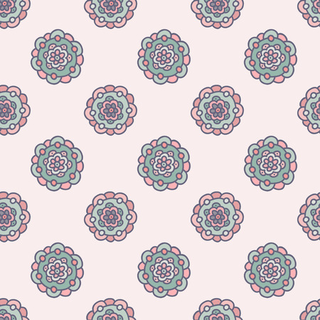 beautiful  seamless pastel floral pattern, hand drawn vector illustration
