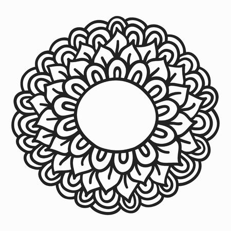 simple doodle flower, hand drawn vector illustration