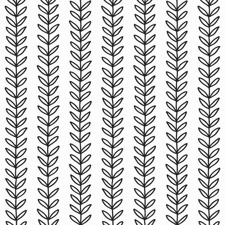 simple: simple leaf seamless pattern, hand drawn vector illustration Illustration