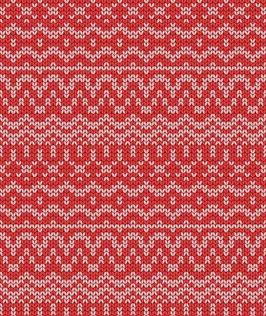 christmas seamless knitting pattern,  illustration
