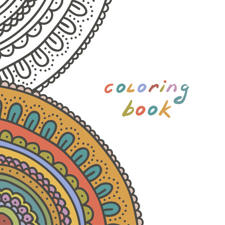 coloring book cover, illustration