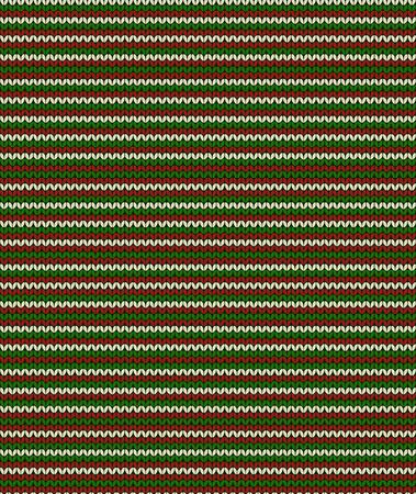 striped christmas seamless knitting pattern, vector illustration Illustration