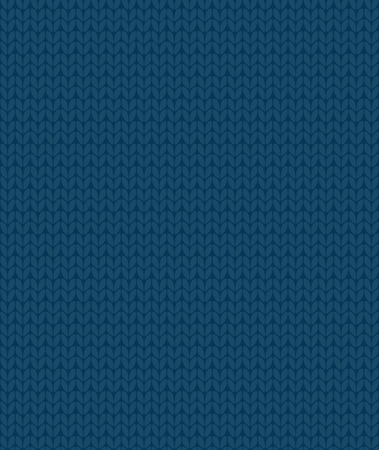simple seamless knitting blue pattern, vector background