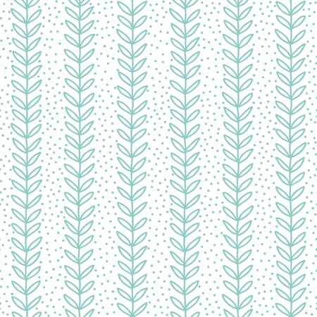 simple leaf seamless pattern, hand drawn vector illustration Illustration