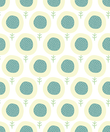 cute wallpaper: Simple kids flower pattern. Doodle pastel seamless background. Cute wallpaper. Vector illustration.