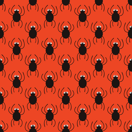 spidery: Halloween spiders simple pattern. Cute seamless background. Vector illustration. Illustration