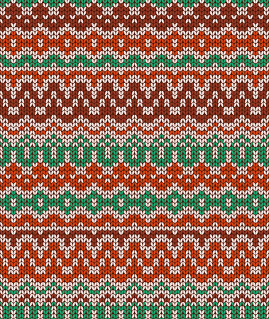 winter wallpaper: Colorful seamless knitting pattern. Warm traditional  texture. Winter wallpaper. Vector illustration.