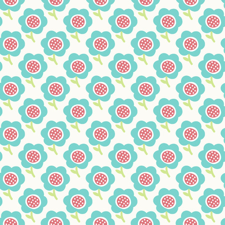wallpaper doodle: Simple baby pattern. Cute seamless wallpaper. Doodle little blue flower background. Vector illustration. Illustration