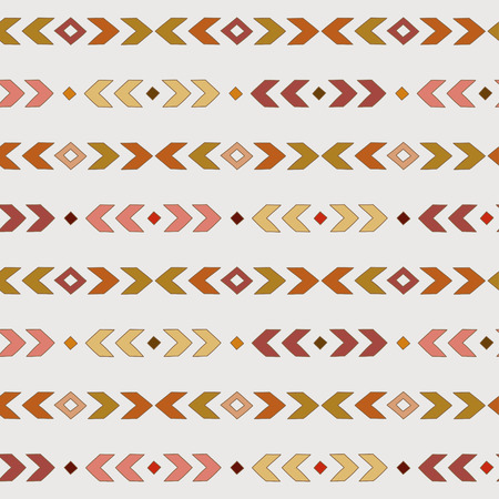 Terracotta  boho pattern. Tribal seamless background. Geometric Wallpaper. Vector illustration. Illustration