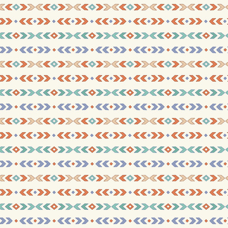 Simple cute boho pattern. Tribal seamless background. Geometric Wallpaper. Vector illustration.