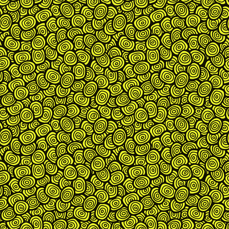 Simple doodle green pattern. Abstract seamless background. Nature wallpaper. Vector illustration.
