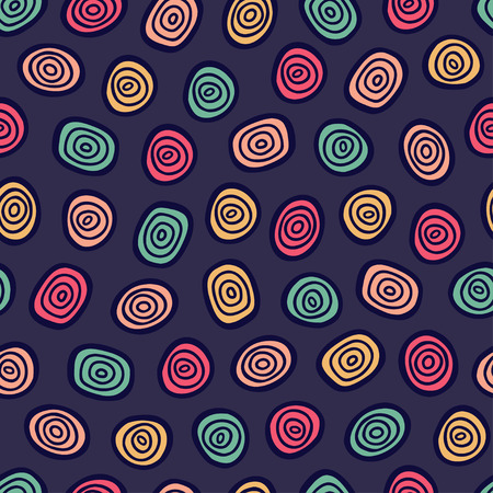 Abstract doodle seamless pattern. Simple retro  background. Vector illustration.