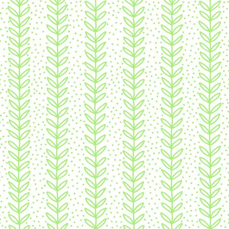 Green Leaf seamless pattern. Simple Nature  fresh  background. Vector illustration. Illustration