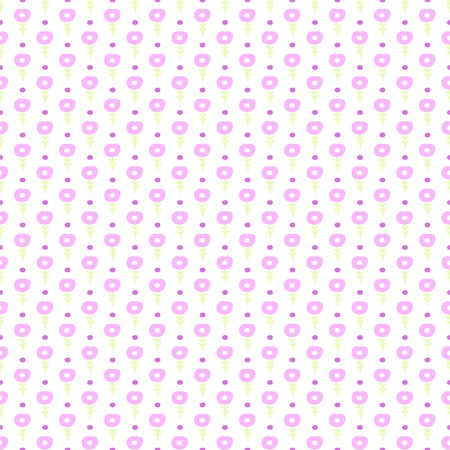 Simple little flower seamless pattern. Kids cute pastel background. Vector illustration. Illustration