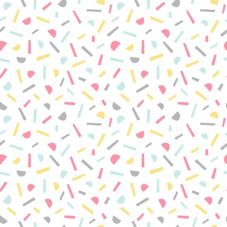 Simple memphis style pattern. Seamless abstract background. Vector illustration.