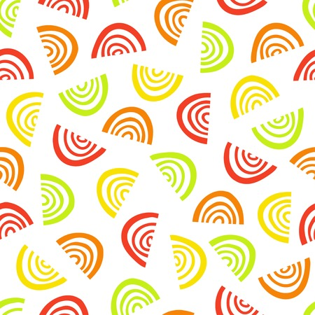 Abstract fruit segment pattern. Simple seamless summer background.Vector illustration. Illustration