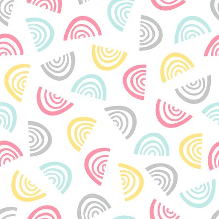 Simple graphic pattern. Seamless doodle background. Vector illustration.