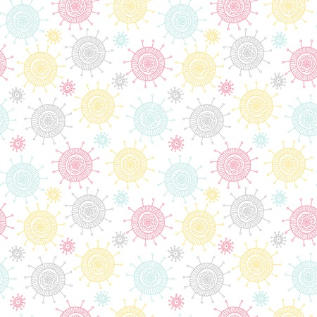 Abstract doodle flower pattern.
