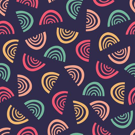 Simple graphic pattern doodle illustration.