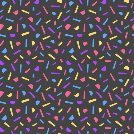 Simple Memphis style pattern in seamless abstract illustration. Illustration