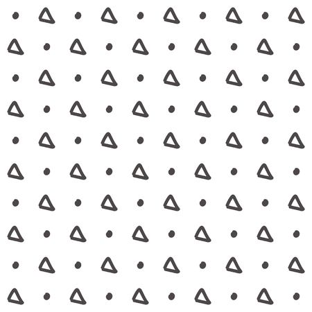 Simple triangle pattern. Hand drawn seamless background. Vector illustration.