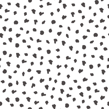 Simple dot pattern. Hand drawn seamless background. Vector illustration.