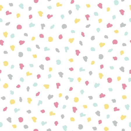 Simple baby pastel dot pattern.